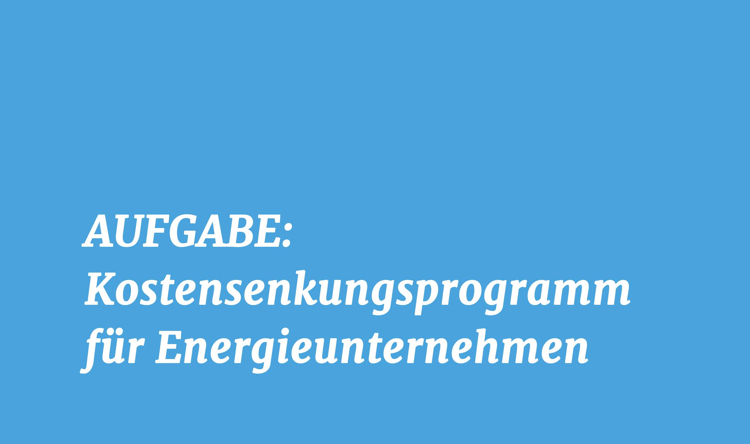AXXCON Effizienzprogramm Kostensenkungsprogramm Energie